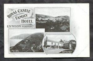 dc885 - LYNDON England c1905-08 Royal Castle Family Hotel Postcard