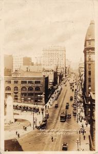 Canada Hastings' Street Vancouver B.C. Cenotaph Victory Square Cars Tram 1930