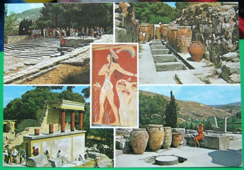 Greece Crete Knossos Multi-view - posted 1975