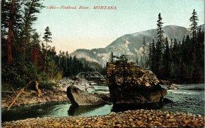 Postcard MT Montana Flathead River Scenic View Unposted