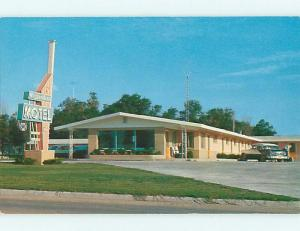 Unused Pre-1980 OLD CARS & MODERNAIRE MOTEL Smith Center Kansas KS u3650