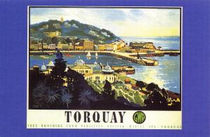 Postcard Nostalgia 1920's GWR The English Riviera TORQUAY Reproduction Card
