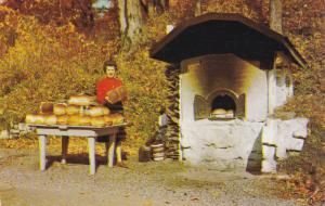 Baking Bread, Outside Baking Stove, QUEBEC CITY, Quebec, Canada, 40-60's