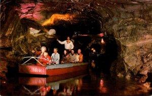 New York Howe Caverns Underground Boating 1985