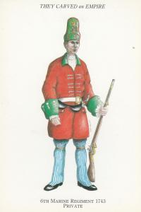 6th Marine Regiment 1743 Private Spanish War Uniform Postcard