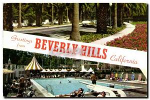 Modern Postcard Greetings From Beverly Hills California