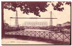 Old Postcard Nantes Transporter Bridge