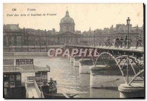 Old Postcard Paris Pont des Arts and Institut de France Elixir Combier Boat