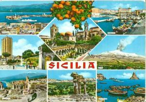 Italy, Sicily, Sicilia, 1960s used Postcard