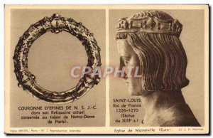 Old Postcard Crown D & # 39Epines Of Our Lord Jesus Christ in His Relics Curr...