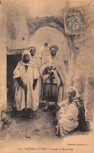 Algeria Scenes et Types - Groupe de Mozabites, native people