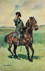 Military postcard Korps Rijdende Artillerie Soldaat 02.14