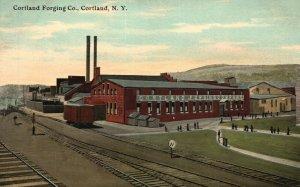 Vintage Postcard 1910's Cortland Forging Co. Cortland NY New York Pub. WM. Jubb