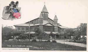 The Auditorioum, Ocean Grove, N.J., Early Postcard, Unused, Arthur Livingston