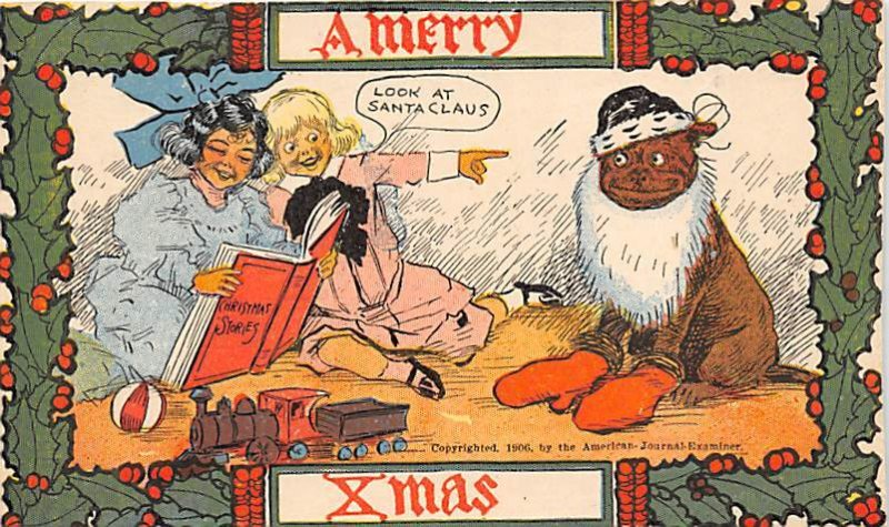 Xmas Buster Brown Dog dressed up as Santa Novelty Unused
