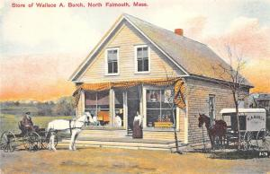 North Falmouth MA Wallace A. Burch Store Delivery Wagon Cape Cod Postcard