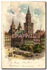 Old Postcard Heilbronn (markt market)