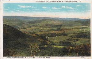 New York Petersburg Valley From Summit Of Taconic Trail Curteich