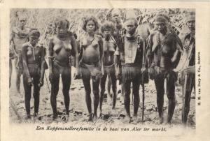 indonesia, SUNDA ALOR, Native Headhunters Family, Cannibals (1899) Postcard (3)