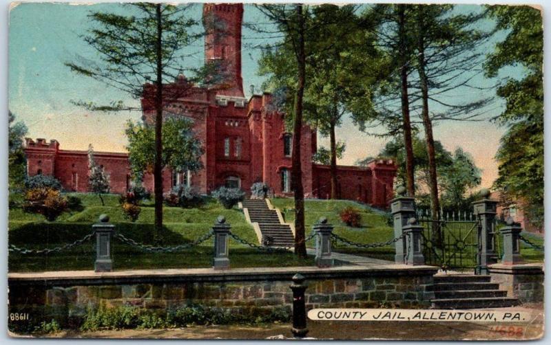 Allentown, Pennsylvania Postcard LEHIGH COUNTY JAIL Front