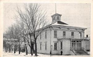 D73/ Dodge Center Minnesota Mn Postcard 1911 Opera House Building