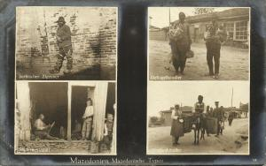 macedonia, Native Types, Serbian Gypsy, Poultry & Street Sellers (1915) RPPC