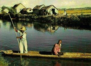 Madagascar Vue typique des Environs de Tananarive Boat Postcard