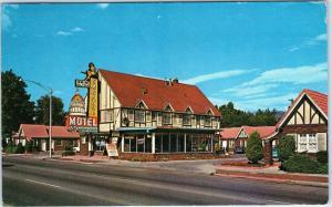SALT LAKE CITY, UT Utah      CAPITOL MOTEL Cool Sign  1961  Roadside    Postcard