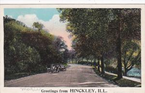 Illinois Greetings From Hinckley 1924