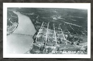 4869 - Canada QUESNEL BC 1950s Aerial View Real Photo Postcard