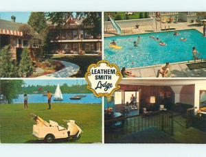 Unused Pre-1980 LEATHEM SMITH LODGE MOTEL Sturgeon Bay Wisconsin WI s1804