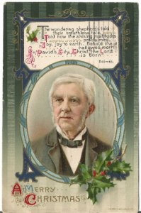 Verse by Holmes Portrait Holly Leaves & Holly Berries copyrighted John Winson