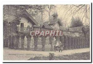 Taverny Old Postcard Chateau of Tuvolle A corner of outbuildings (ass donkey)
