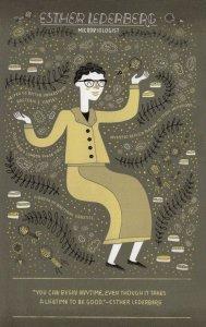 Esther Lederberg Microbiologist Scientist Portrait Postcard