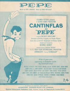 Cantinflas Pepe Judy Garland Bing Crosby 1950s Sheet Music