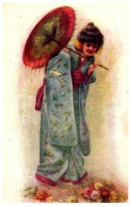 Woman dressed in Asian Garb
