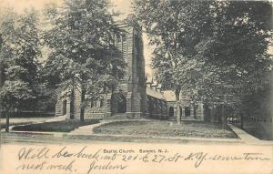 Summit New Jersey~Baptist Church~Hidden in Trees~1906 B&W Postcard