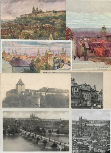 Czech Republic - Praha Prag Prague Postcards Lot of 57 RPPC and Printed 01.03