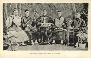china, CANTON GUANGZHOU 廣州, Native Chinese Amateur Musicians Instruments (1910s)