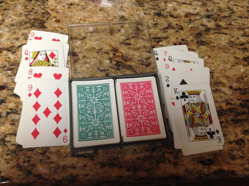 Hallmark Playing Cards ;Double Deck Bridge Set w/ Case- Botan