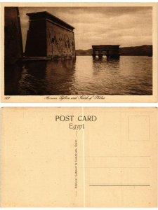 CPA EGYPT Assuan: Pylons and Kiosk of Philae (421805)