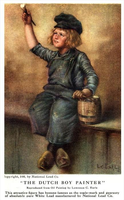 The Dutch Boy Painter   Signed Lawrence E. Earle