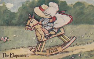COMIC; 1910; The Elopment, Toddlers on Rocking Horse Felix