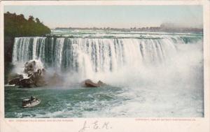 New York Canadian Falls Above and Below Niagara Detroit Publishing
