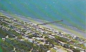 South Carolina Myrtle Beach Aerial View Showing Pier
