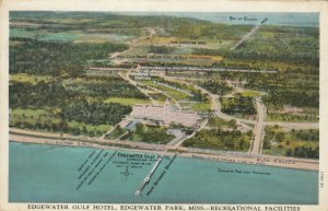 EDGEWATER PARK, Mississippi,1910s; Edgewater Gulf Hotel, Recreational Facilities
