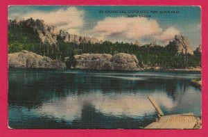 H-033- CA 1940's Silvan Lake, Custer State Park, SD Linen  Picture Postcard