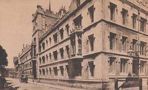 Oxford Exeter College Antique Postcard Mint