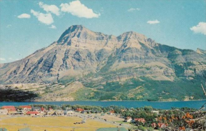 Canada Waterton Lakes Townsite Showing Mount Vimy Alberta