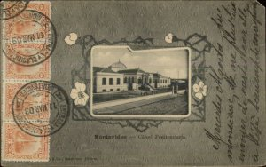Montevideo Uruguay Carcel Penitentiaria JAIL PRISON 1903 Used Postcard